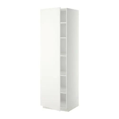 METOD Mobile alto con ripiani  bianco Hggeby bianco 60x60x200 cm  IKEA