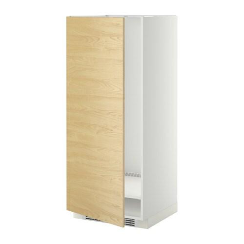 METOD Mobile alto per frigocongelatore  bianco Tingsryd effetto betulla 60x60x140 cm  IKEA