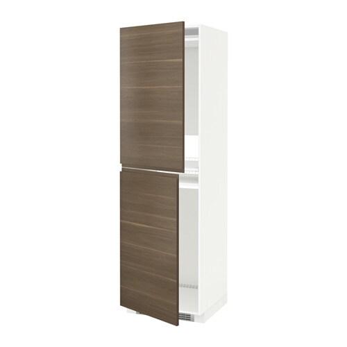 METOD Mobile alto per frigocongelatore  bianco Voxtorp effetto noce 60x60x200 cm  IKEA