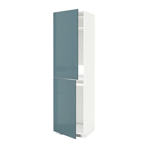METOD Mobile alto per frigocongelatore  bianco Kallarp lucido grigioturchese 60x60x220 cm