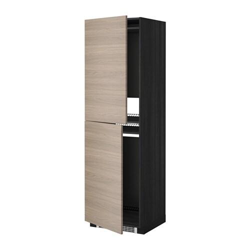 METOD Mobile alto per frigocongelatore  effetto legno nero Brokhult effetto noce grigio