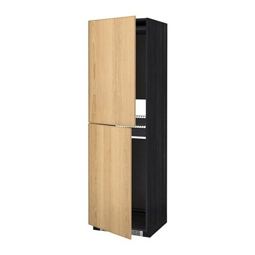 METOD Mobile alto per frigocongelatore  effetto legno nero Ekestad rovere 60x60x200 cm  IKEA