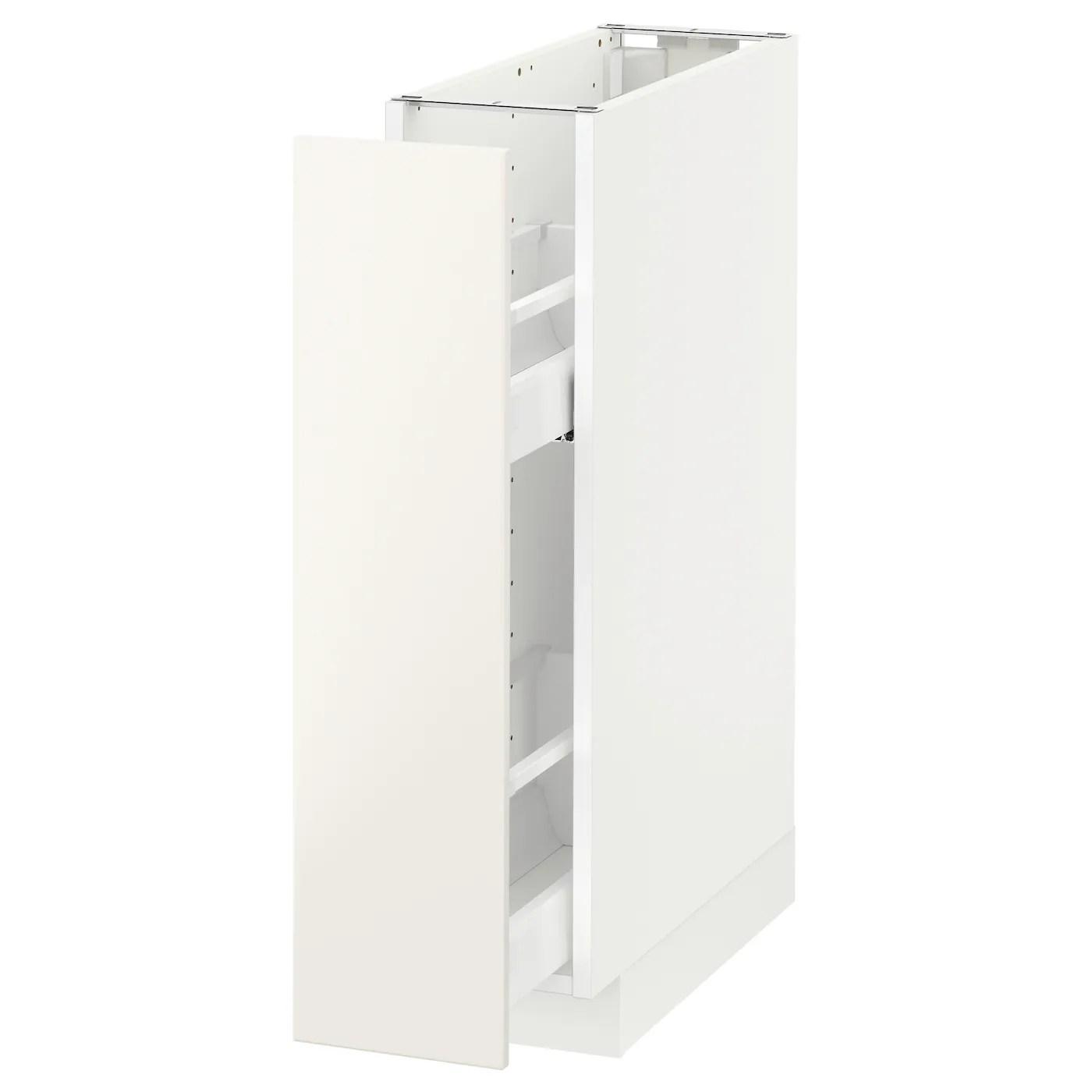 Mobili da cucina al miglior prezzo. Metod Mobile Base E Accessori Estraibili Bianco Veddinge Bianco 20x60 Cm Ikea It