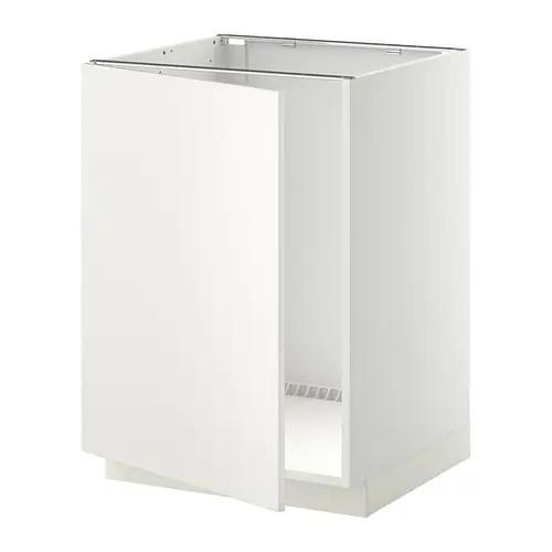 METOD Mobile base per lavello bianco Veddinge bianco IKEA