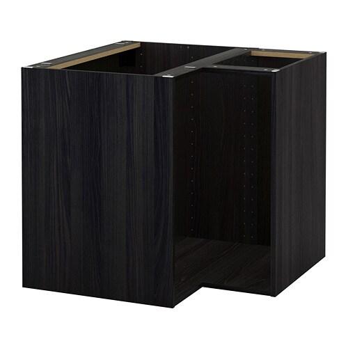 METOD Struttura per mobile base angolare  effetto legno nero  IKEA