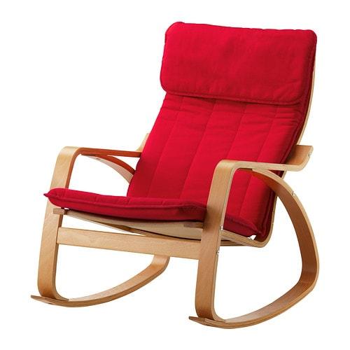 PONG Sedia a dondolo  Ransta rosso  IKEA