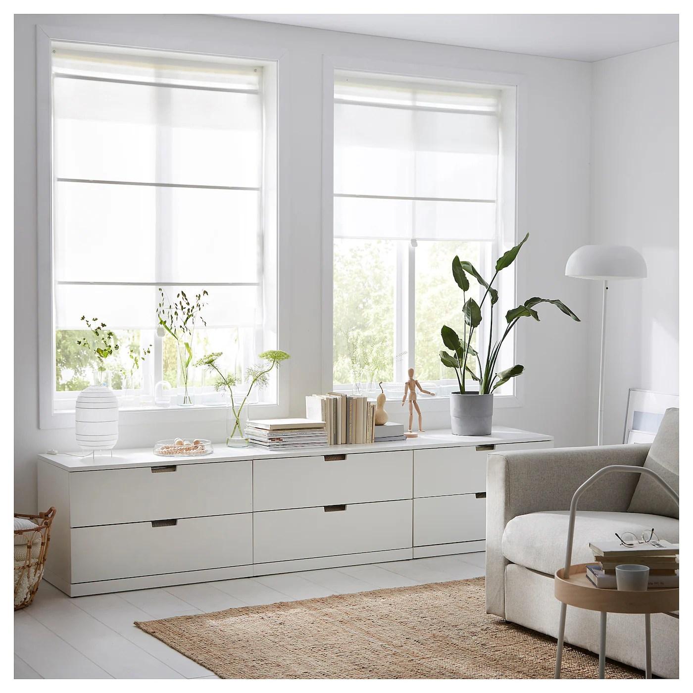 Come la posizione delle finestre da rivestire. Ringblomma Tenda A Pacchetto Bianco 100x160 Cm Ikea It