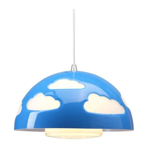 SKOJIG Lampada a sospensione  blu  IKEA