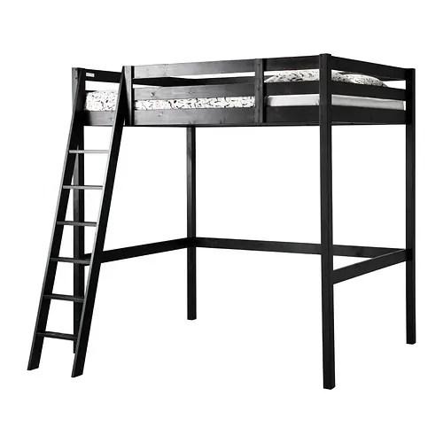 Stor 197 Struttura Per Letto A Soppalco Nero Ikea