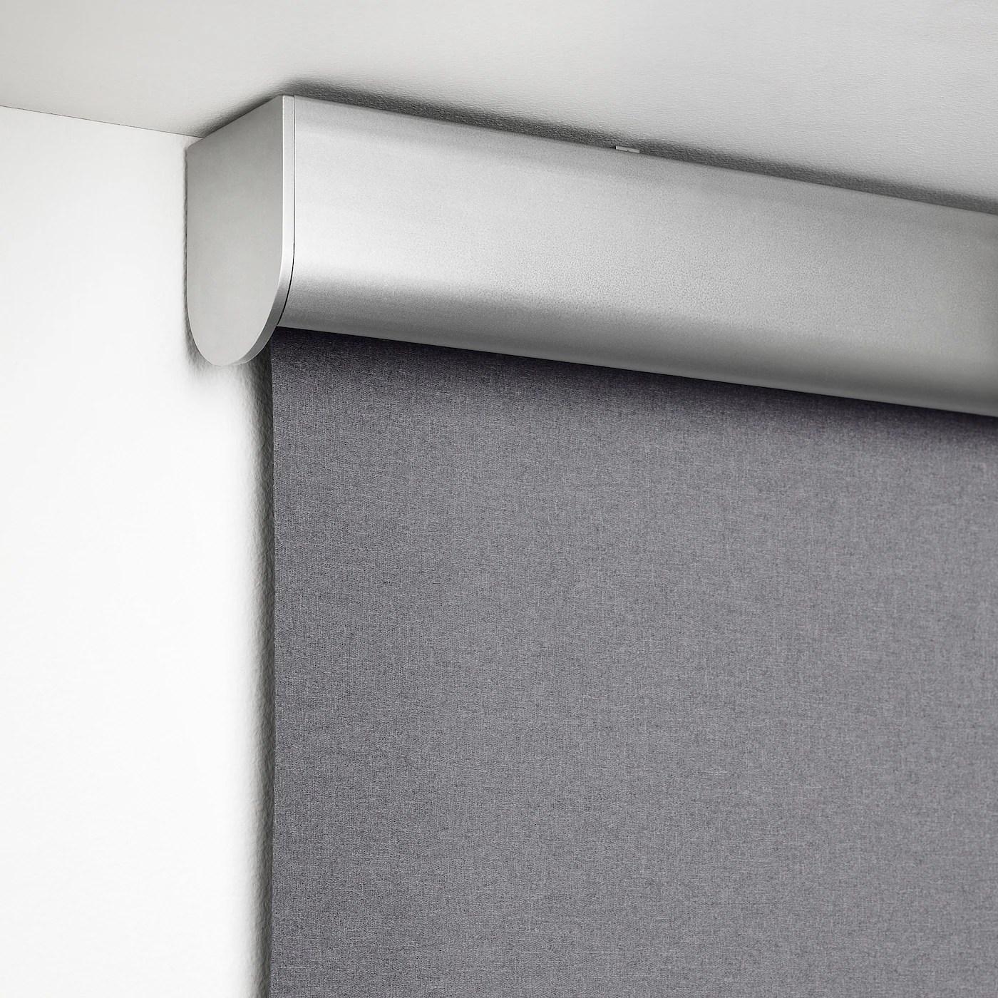Sono adate per fissaggio su parete, soffitto o infisso. Tretur Tenda A Rullo Oscurante Grigio Chiaro 120x195 Cm Ikea It