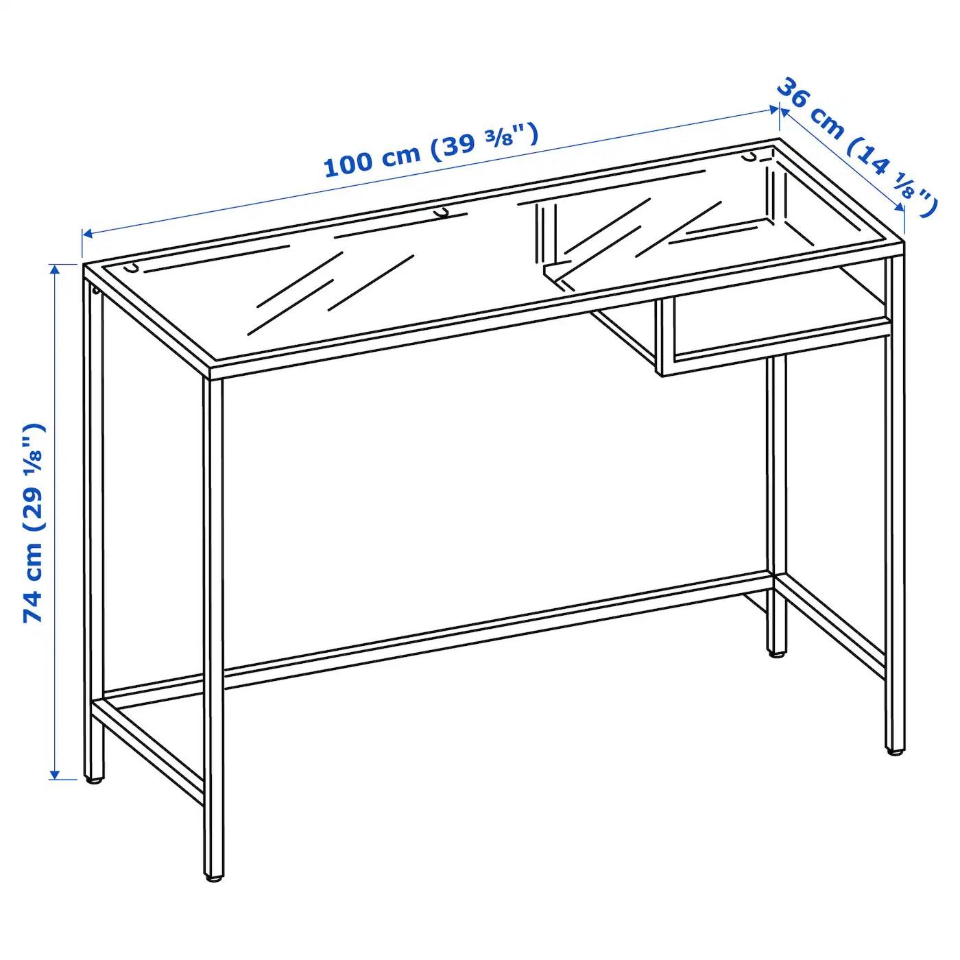 Una scrivania per pc è una classica scrivania fatta però per essere in grado di ospitare nel modo migliore possibile un computer, fisso o portatile. Vittsjo Tavolo Per Pc Portatile Marrone Nero Vetro 100x36 Cm Ikea It