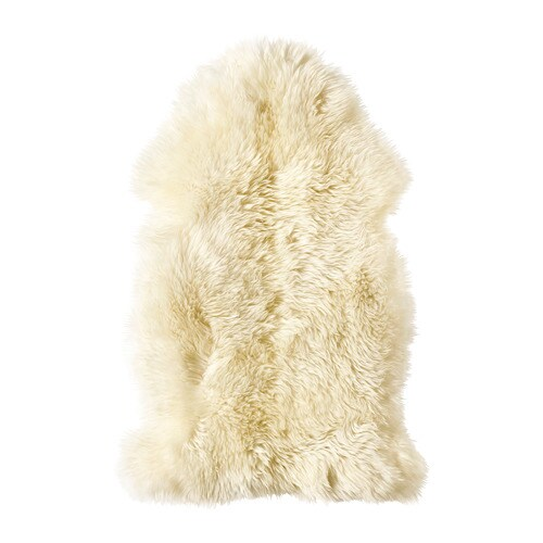 LUDDE Sheepskin IKEA Wool is soil-repellent and hard-wearing.
