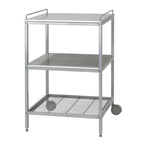 stainless steel kitchen cart remodeling open living room udden trolley ikea