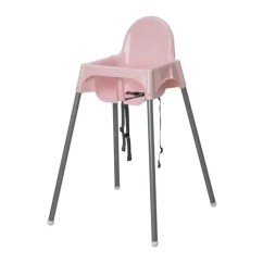 Small High Chair Andy Warhol Electric Auction Antilop Highchair With Safety Belt Pink Silver Colour Ikea