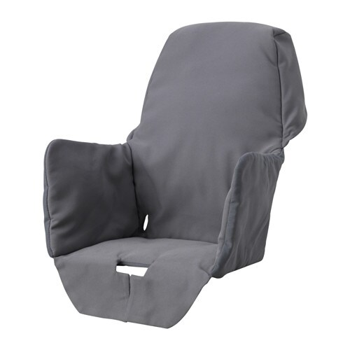 padded high chair ergonomic standing desk langur seat cover for highchair ikea