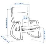 Poang Rocking Chair Birch Veneer Robust Glose Dark Brown