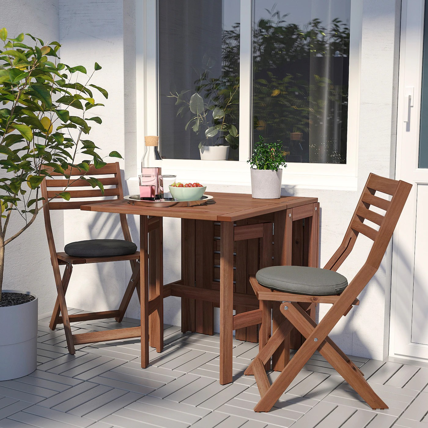 applaro gateleg table outdoor brown stained 34 83 131x70 cm