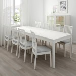 Ekedalen Table And 6 Chairs White Orrsta Light Grey Ikea
