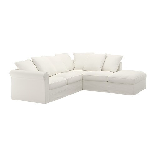 Grönlid Corner Sofa 4 Seat With Open End Inseros White