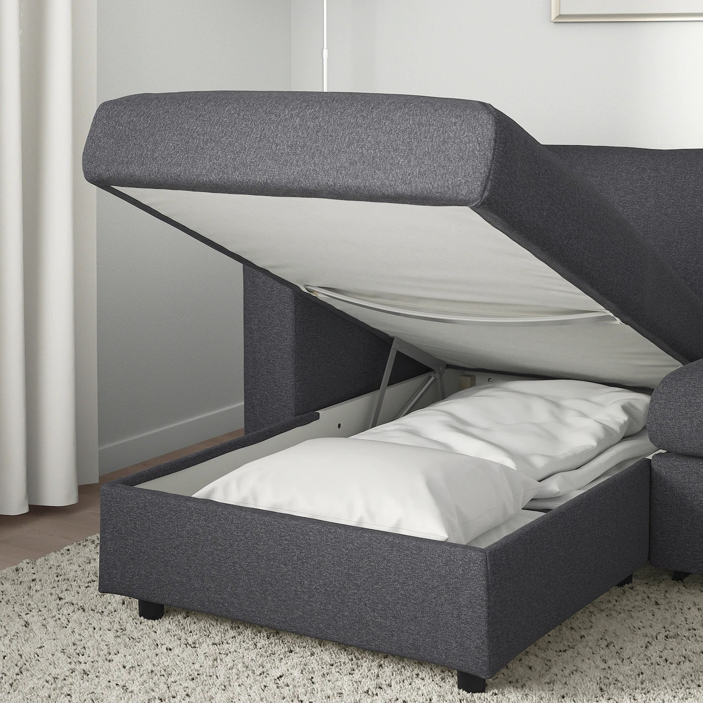 vimle 3 seat sofa bed with chaise