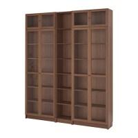 BILLY / OXBERG Bookcase   brown ash veneer, 200x237x28 cm ...