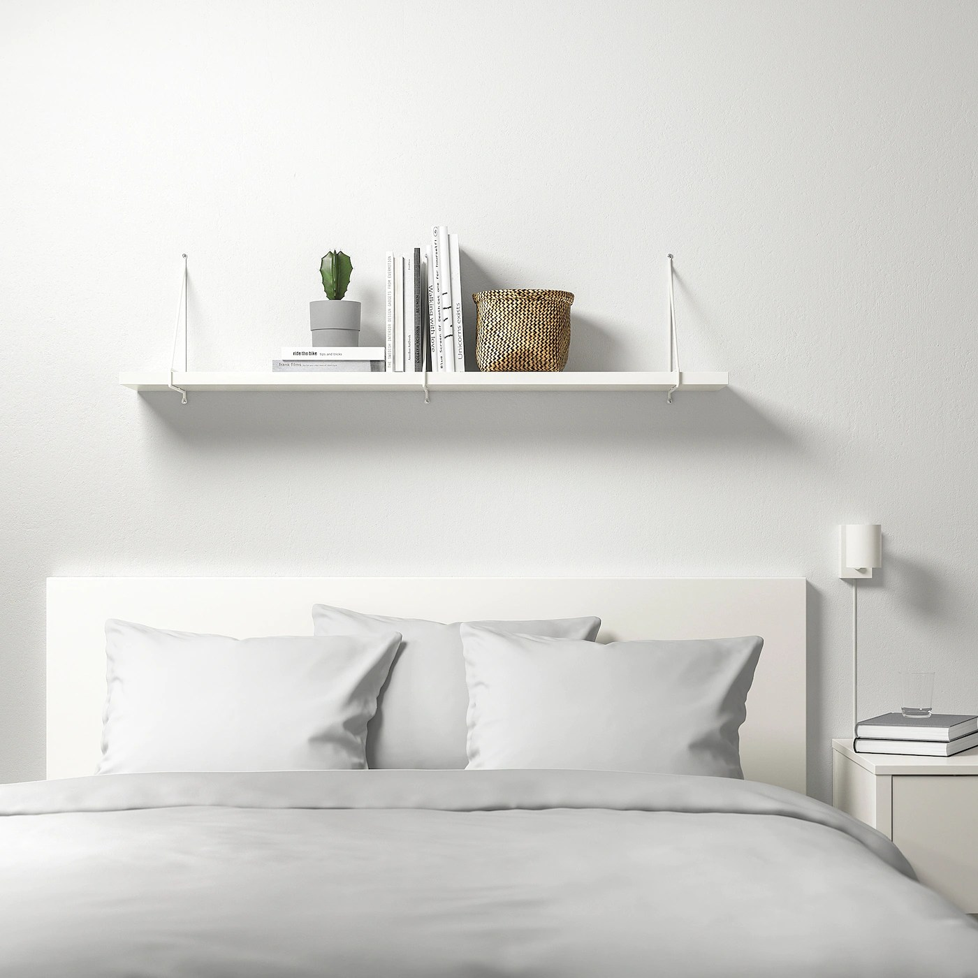Bergshult Pershult Wall Shelf White White Ikea