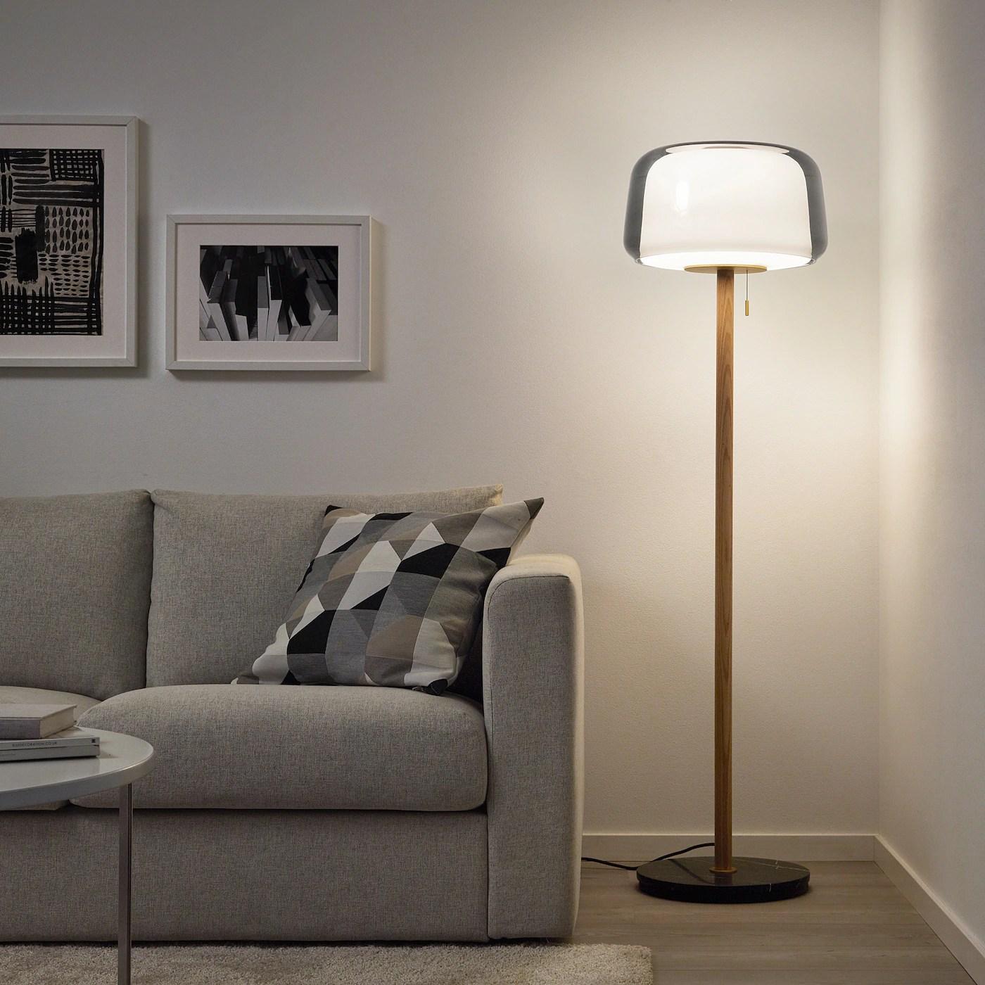 evedal floor lamp marble grey