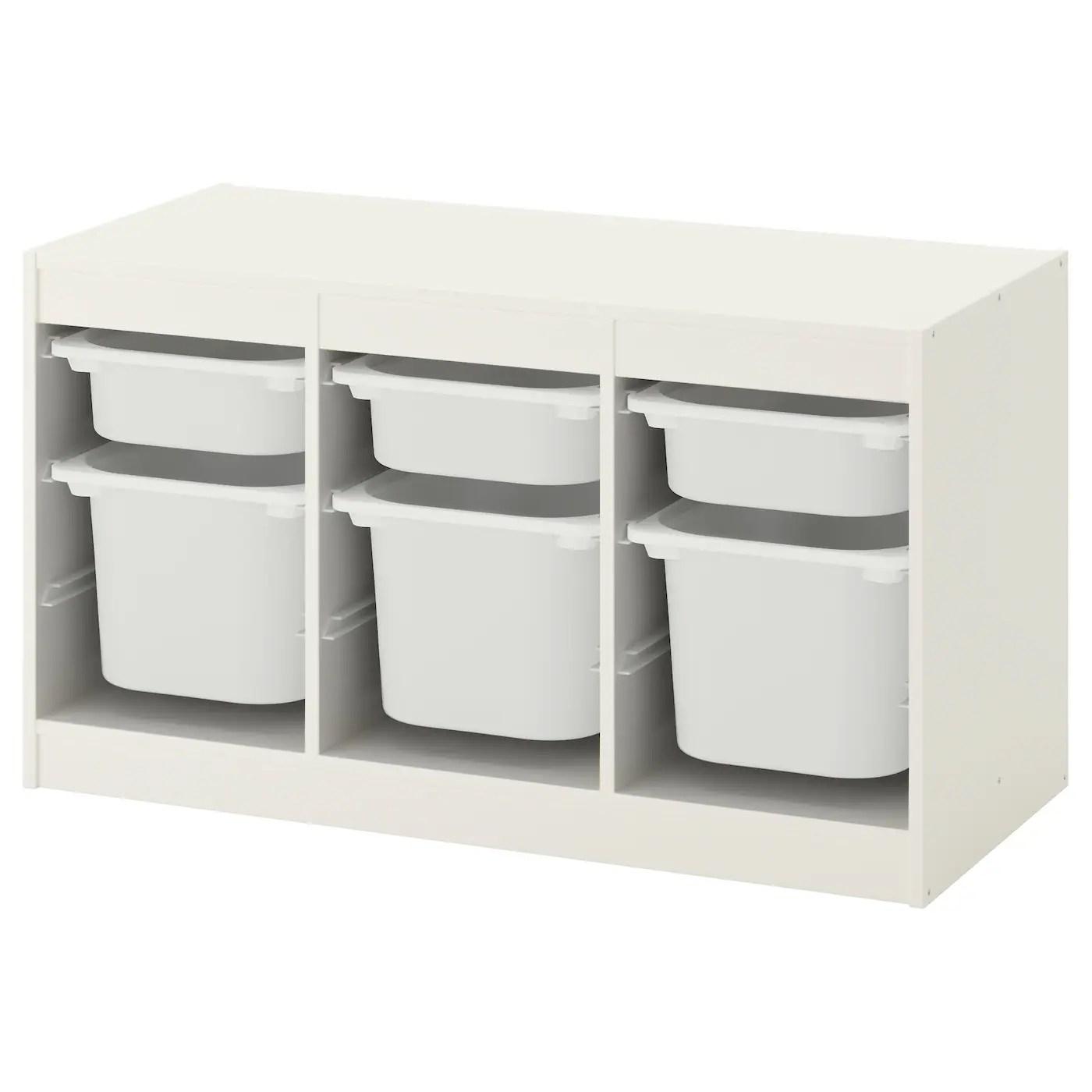 trofast storage combination with boxes white white 99x44x56 cm
