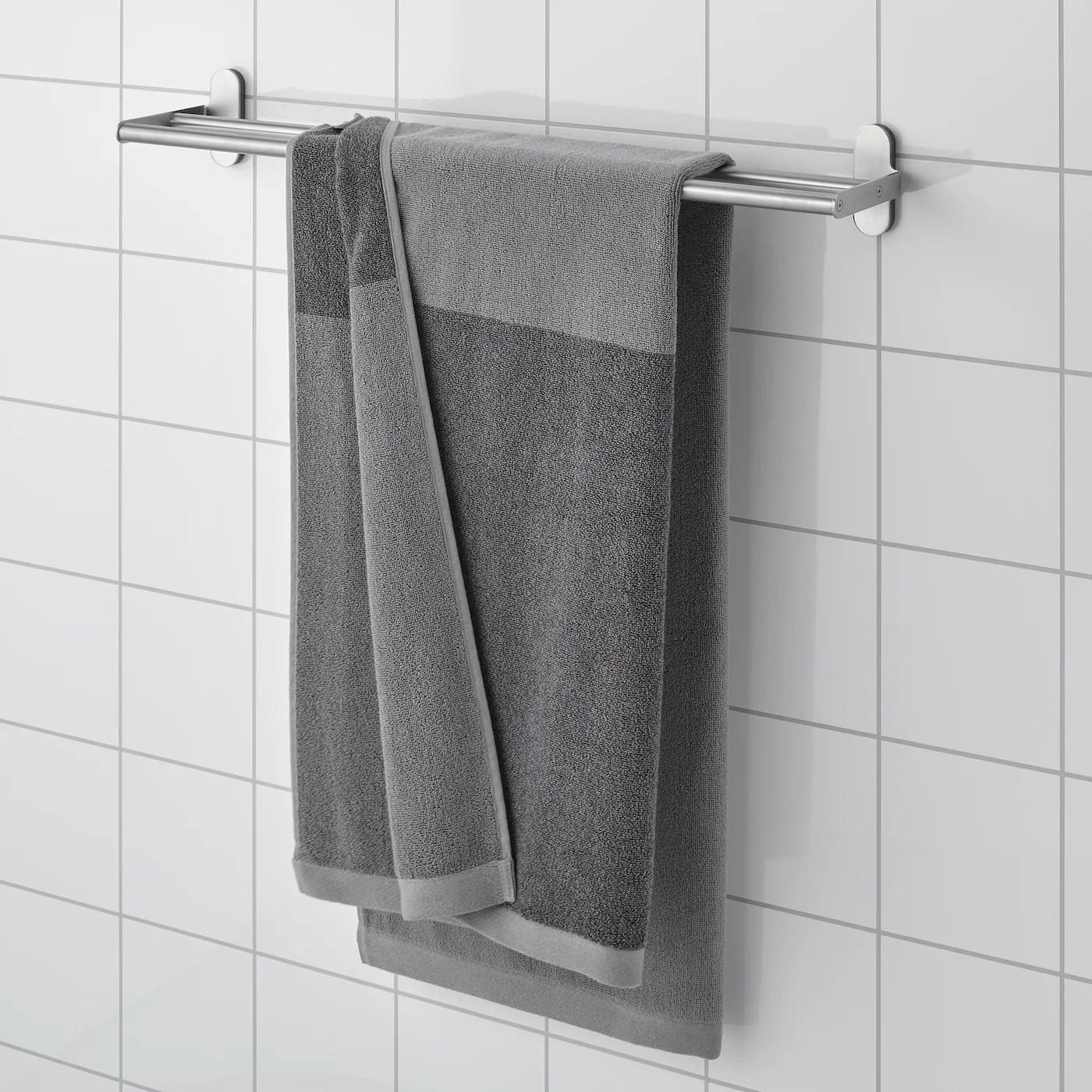 Himlean Bath Towel Dark Grey Melange Ikea