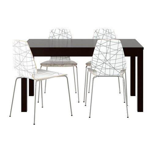 BJURSTA  VILMAR Meja dan 4 kerusi  IKEA
