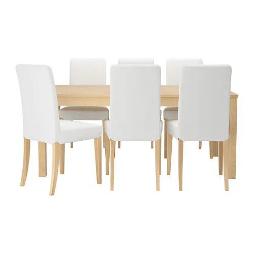 BJURSTA  HENRIKSDAL Tafel met 6 stoelen  IKEA