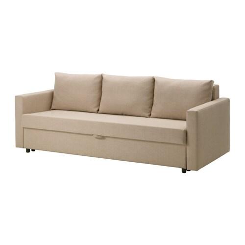 FRIHETEN 3zits slaapbank  Skiftebo beige  IKEA