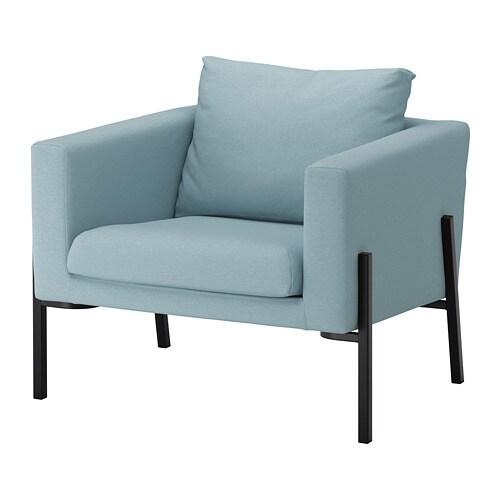 KOARP Fauteuil  Orrsta lichtblauw zwart  IKEA