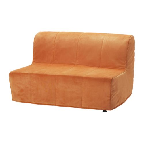LYCKSELE Hoes 2zits slaapbank   Henn oranje  IKEA