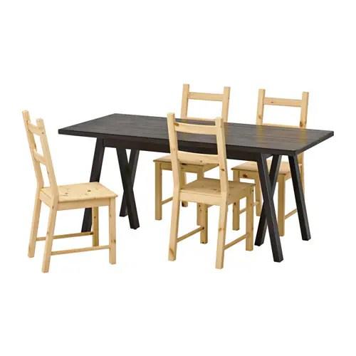 RYGGESTADGREBBESTAD  IVAR Tafel en 4 stoelen  IKEA