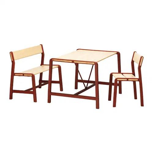 YPPERLIG Kindertafel met bank en stoel  IKEA
