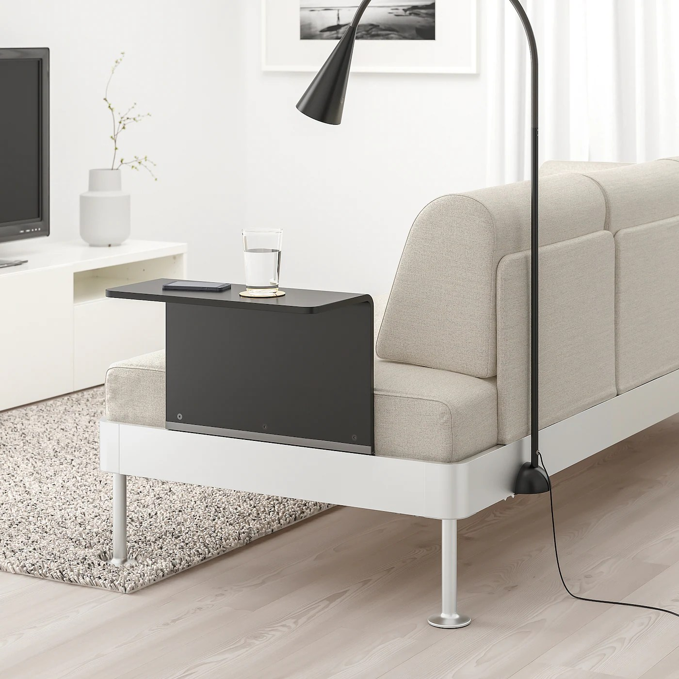 Https Www Ikea Com No No P Delaktig 3 Seters Sofa Med Bord Og Lampe Gunnared Beige S19289077 Ikea