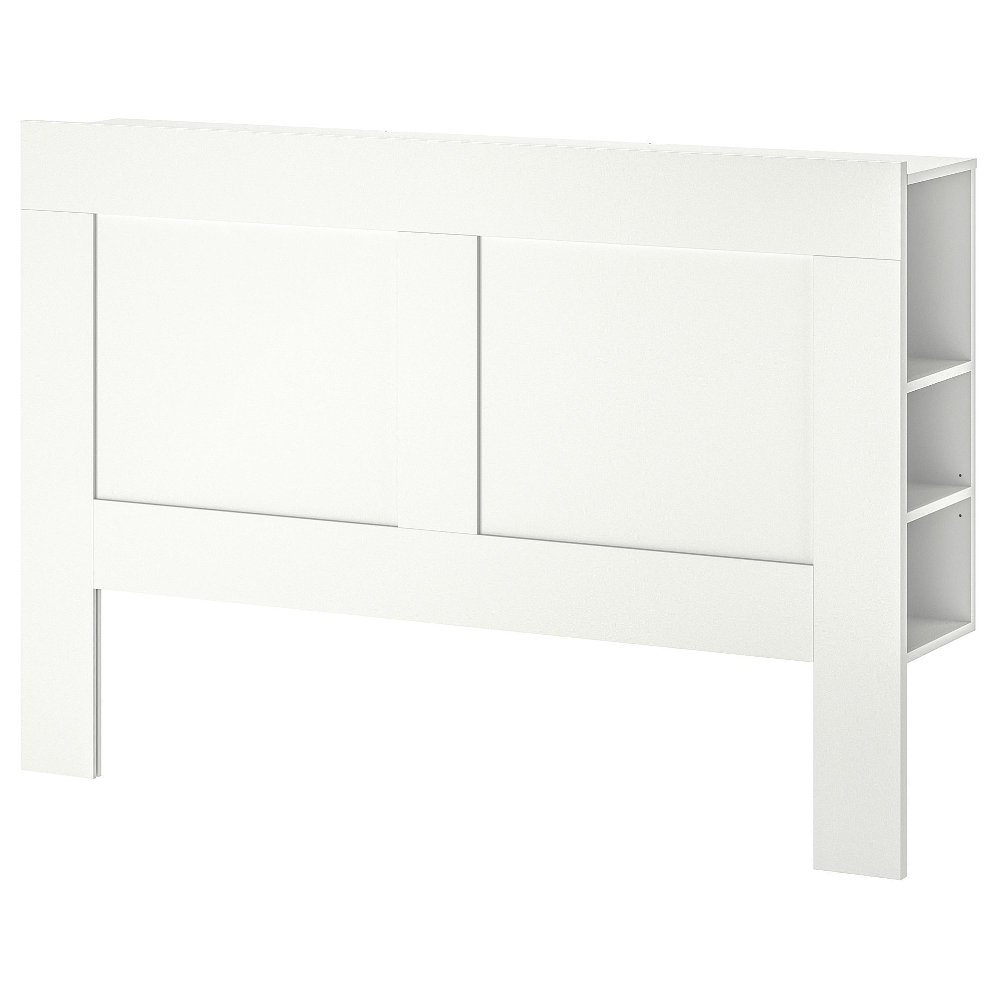 brimnes tete de lit avec rangement blanc 160 cm