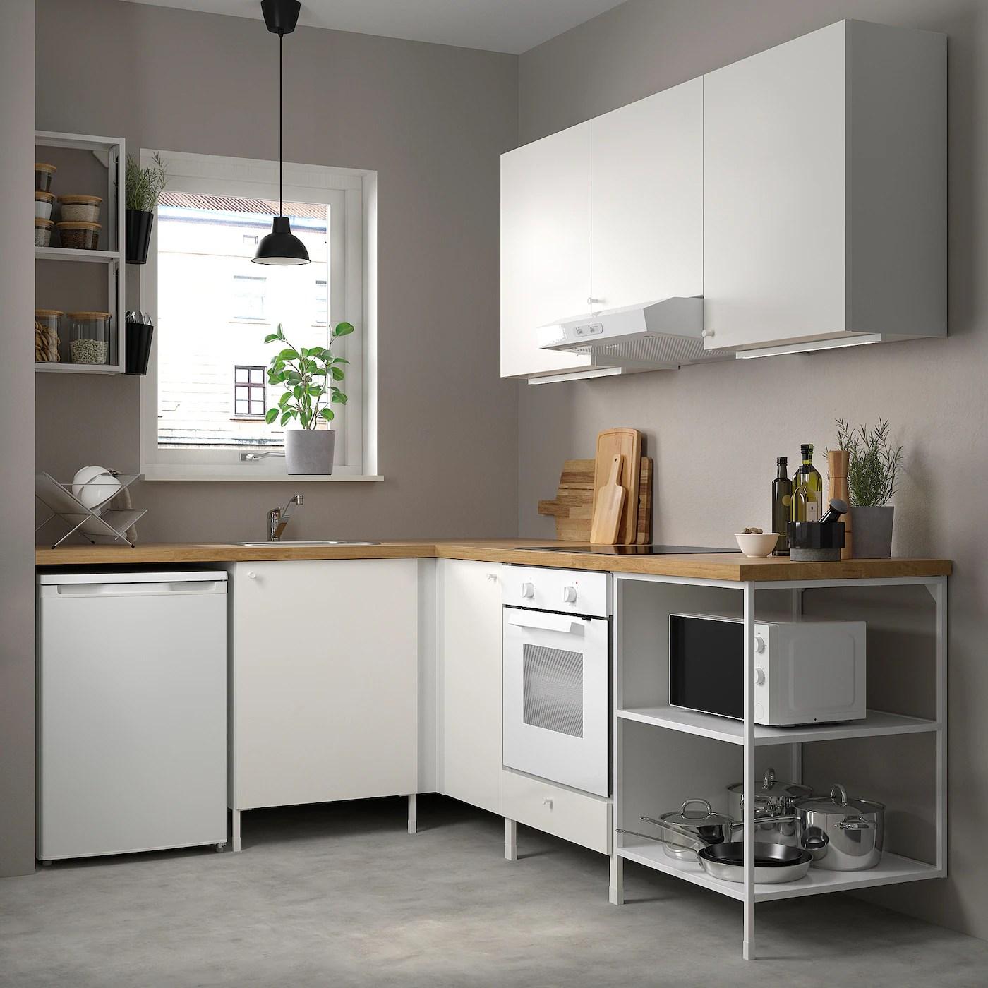 enhet corner kitchen white ikea