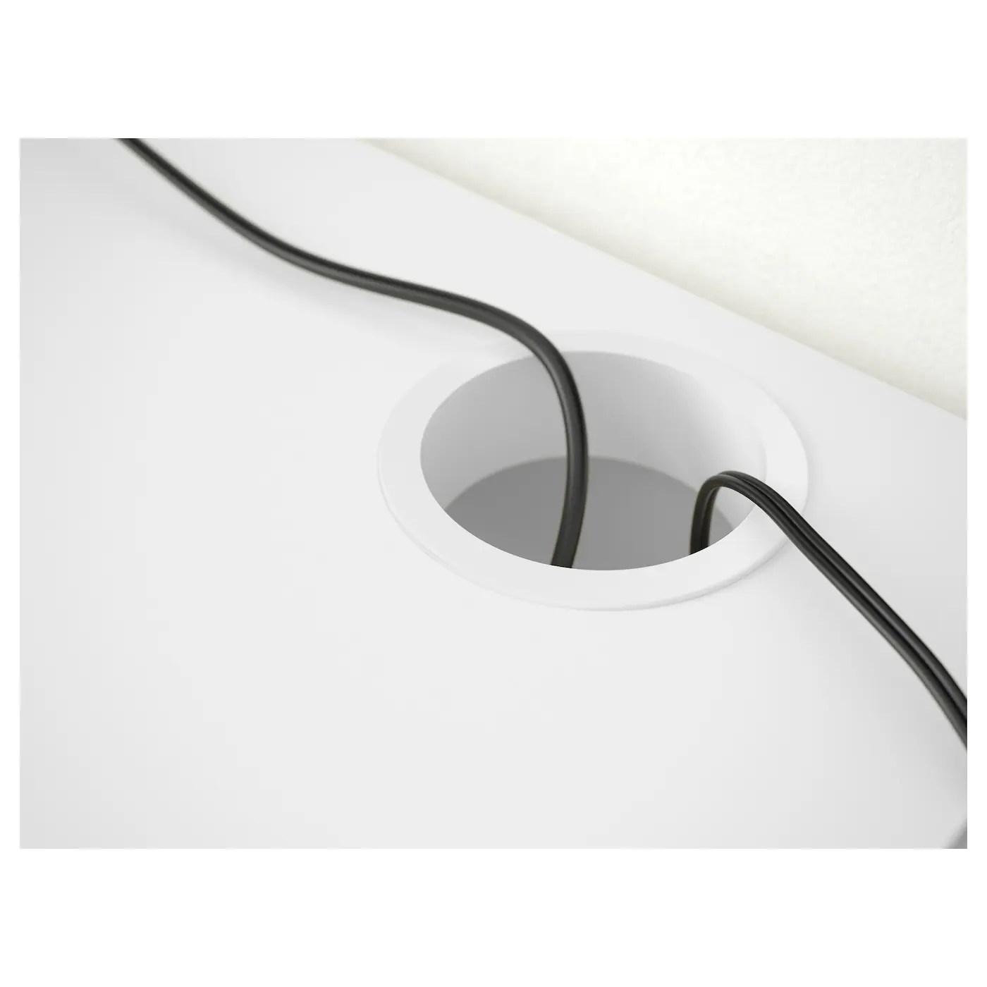 Buy Micke Desk White 142x50 Cm Online Qatar Ikea