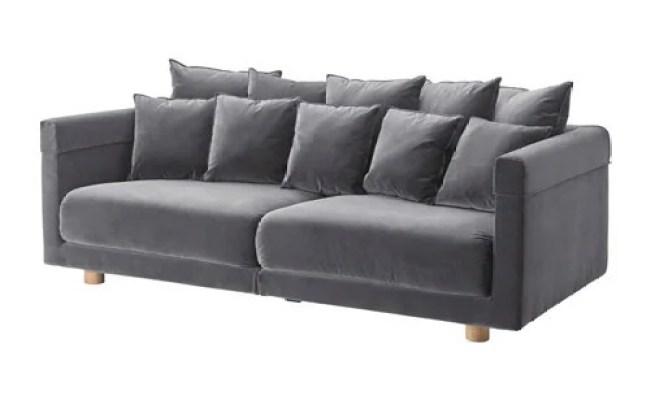 Stockholm 2017 Three Seat Sofa Sandbacka Dark Grey Ikea