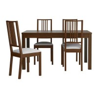БЬЮРСТА / БЁРЬЕ Стол и 4 стула   IKEA