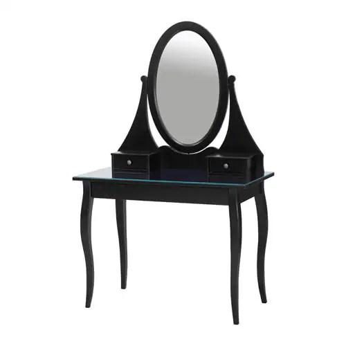 HEMNES Dressing Table With Mirror Black IKEA