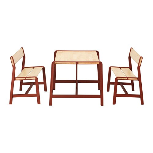 ikea childrens chair 2 outdoor folding with footrest ypperlig children s table benches 39 solid beech is a hard