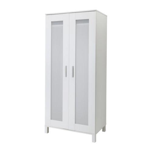ANEBODA Klädskåp IKEA Justerbara gångjärn gör att dörrarna hänger rakt.