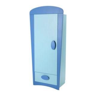 MAMMUT Klädskåp blå, ljusblå Bredd: 84 cm Djup: 50 cm Höjd: 186 cm Max. belastning/hyllplan: 20.00 kg