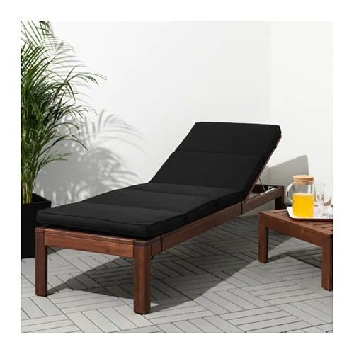 KUNGSÖ Sun lounger pad IKEA Ties and a strap keep the sun lounger pad firmly in place.