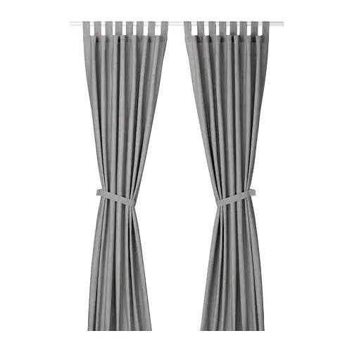 Lenda Curtains With Tie Backs 1 Pair
