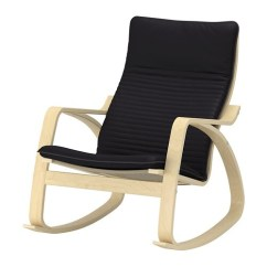 Rocker Chair Sg Covers For Christmas Poang Rocking Knisa Black Ikea