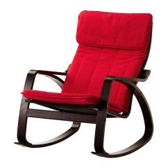 Rocker Chair Sg Rent Chiavari Chairs Poang Rocking Ransta Red Ikea